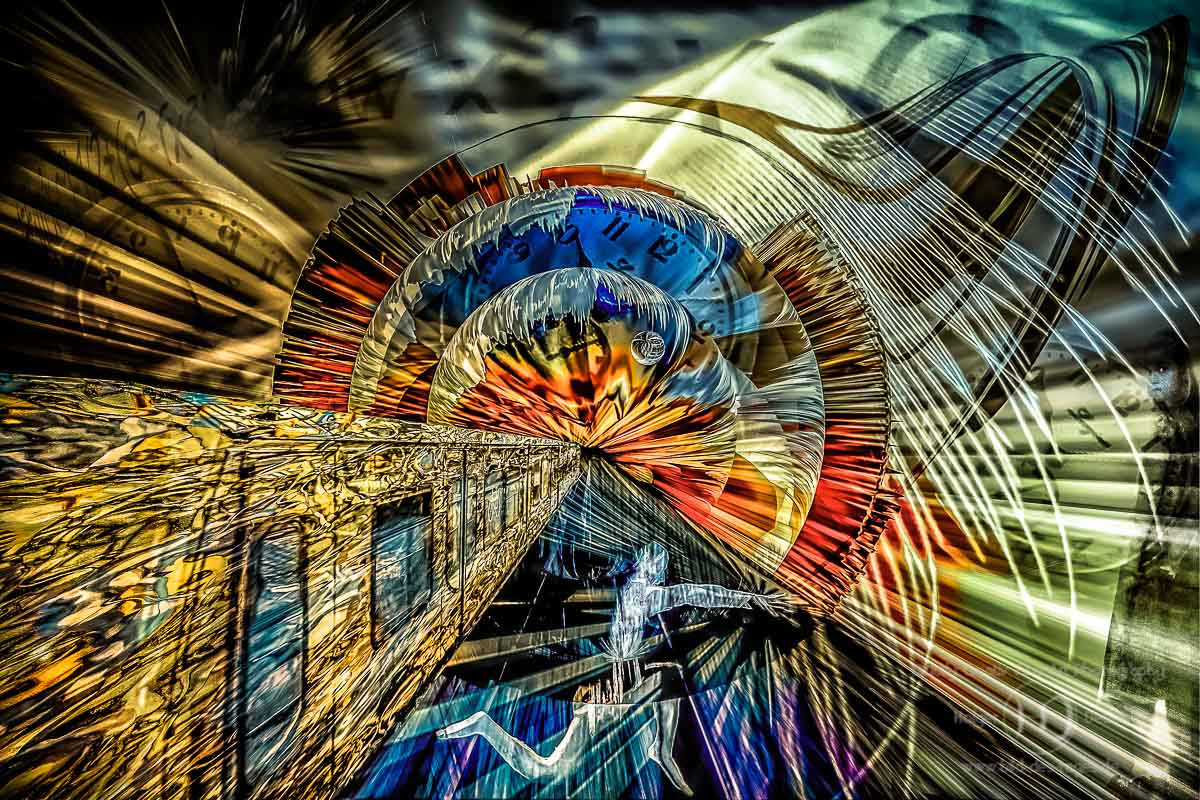 Digital Art-Timetunnel