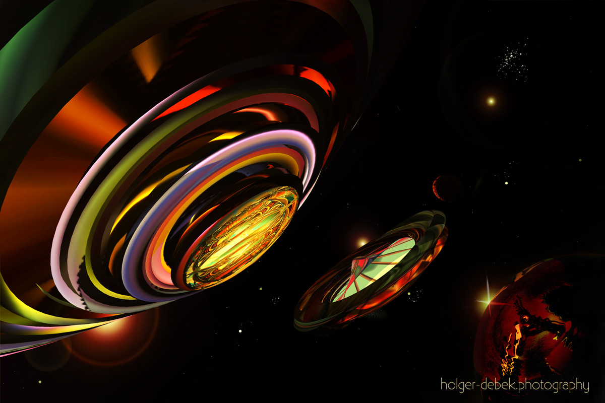 Digital Art-Major Tom interstellar memorial station